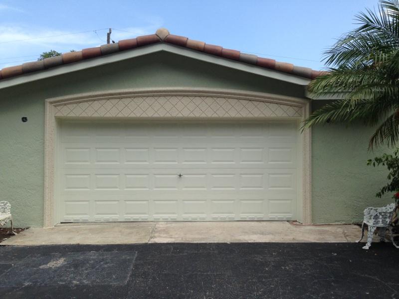 Garage door molding after